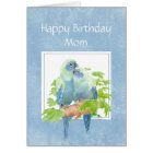 Funny Birthday for Mum Parrot Couple Birds Card
