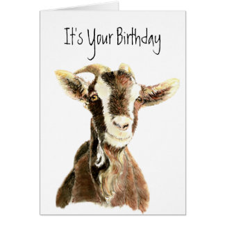 Funny Birthday, Over the Hill, Old Goat Humor Greeting Card