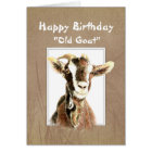 Funny Birthday Over the Hill Old Goat Humour Card
