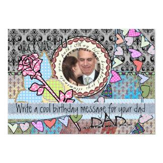 Funny birthday template photo card - dad 13 cm x 18 cm invitation card