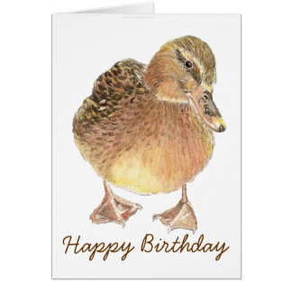 Funny Birthday with Cute  Duck Card