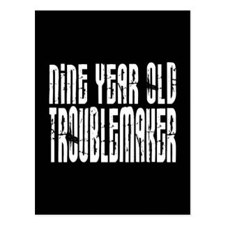 Funny Birthdays : Nine Year Old Troublemaker Post Card