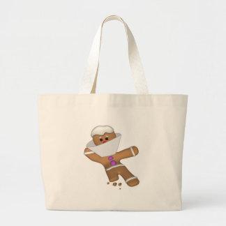 Funny Bit Himself Gingerbread Man Jumbo Tote Bag