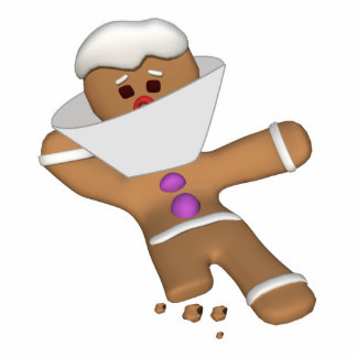 Funny Bit Himself Gingerbread Man Photo Cut Out