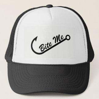 "Funny ""Bite Me"" & Fish Hook Trucker Hat"