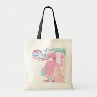Funny Blabber Pink Character Bag