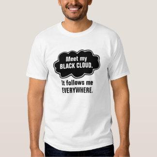 Funny Black Cloud T-shirt. (two-sided) T-shirt