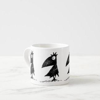 Funny Black Crows Espresso Cup