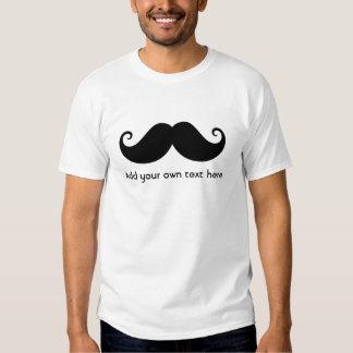 Funny black handlebar gentleman mustache moustache shirt