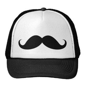 Funny black handlebar mustache moustache cap