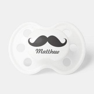 Funny black handlebar mustache stache personalized dummy