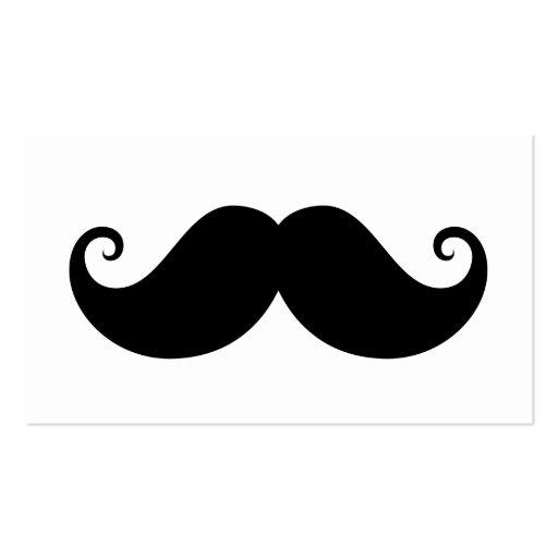Funny black handlebar mustache trendy hipster business card