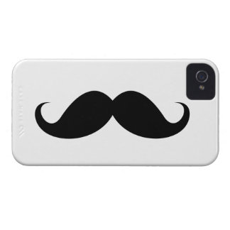 Funny black handlebar mustache trendy hipster iPhone 4 cases