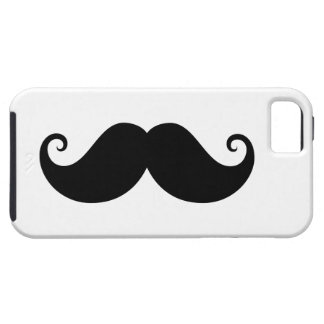 Funny black handlebar mustache trendy hipster tough iPhone 5 case