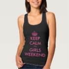 Funny black keep calm bachelorette party tank tops