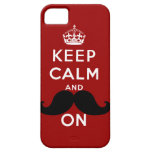 Funny Black Moustache Keep Calm iPhone 5 Cases