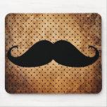 Funny Black Moustache Mouse Pad