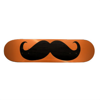 Funny black mustache 11 skate board