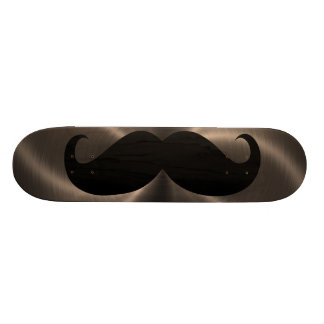 Funny black mustache 17 skate board deck