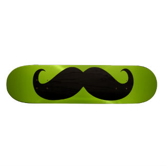 Funny black mustache 8 skate deck
