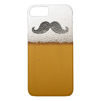 Funny Black Mustache in Beer Foam iPhone 8/7 Case