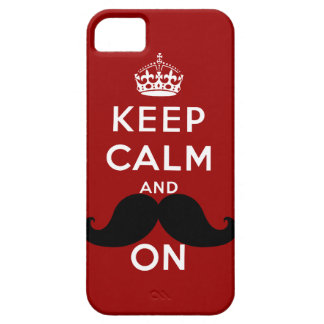 Funny Black Mustache Keep Calm Barely There iPhone 5 Case