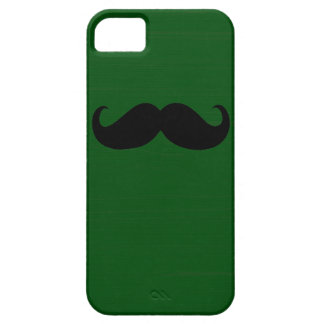Funny Black Mustache on Green Background iPhone 5 Cover