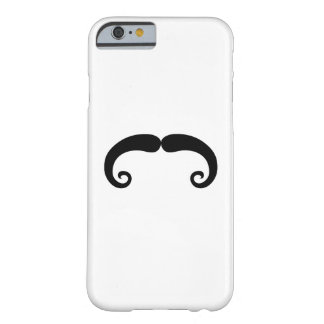 Funny Black Mustache or Moustache Style Barely There iPhone 6 Case