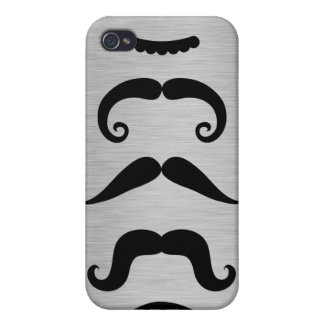Funny Black Mustache Styles  Case For iPhone 4