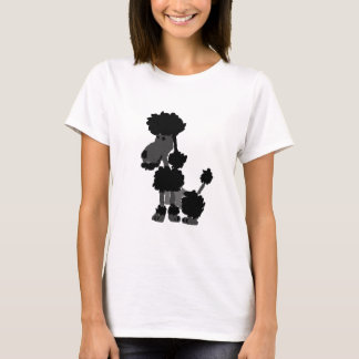 Funny Black Poodle Art Original T-Shirt