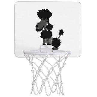 Funny Black Poodle Dog Art Mini Basketball Hoop