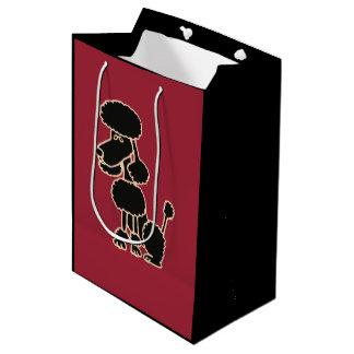 Funny Black Poodle Gift Bag
