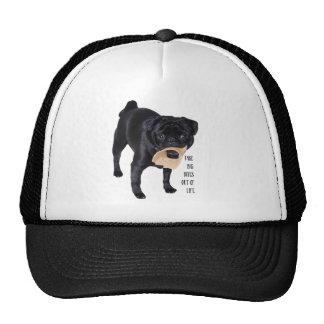 Funny Black Pug  Take Big Bites out of Life Cap