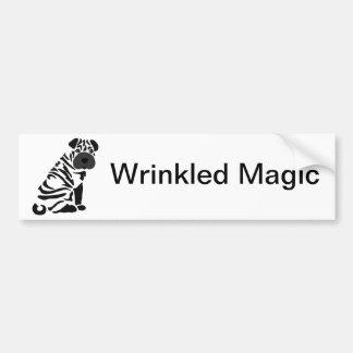 Funny Black Shar Pei Dog Abstract Art Bumper Sticker