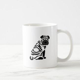 Funny Black Shar Pei Dog Abstract Art Coffee Mug