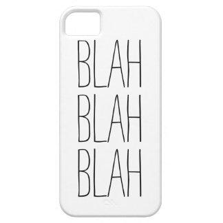 Funny blah blah blah modern trendy hipster humor case for the iPhone 5