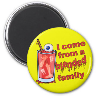Funny Blended Family Pun Fridge Magnets