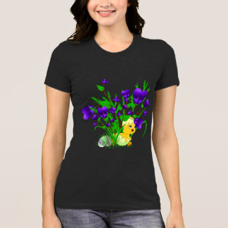 Funny Blooming Hearts Easter Chick Shirt