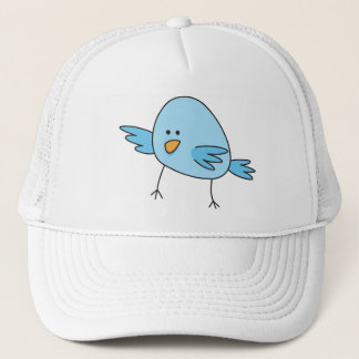 Funny blue bird animal cartoon trucker hat