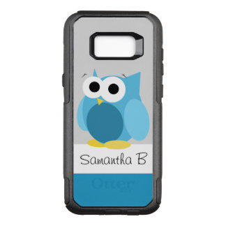 Funny Blue Owl Personalised Samsung Galaxy S8 OtterBox Commuter Samsung Galaxy S8+ Case