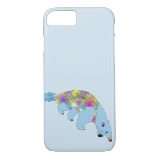 Funny Blue Psychedelic Anteater Animal Art Design iPhone 8/7 Case