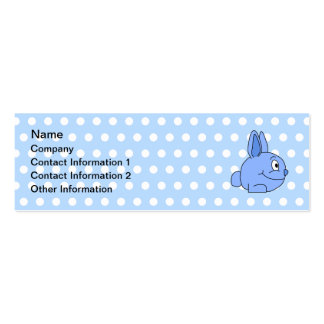 Funny Blue Rabbit Cartoon. Pack Of Skinny Business Cards