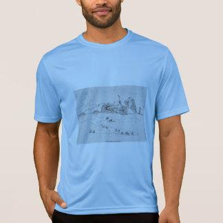 Funny Blue T-Shirt with 'The Mole Slayer' Cartoon