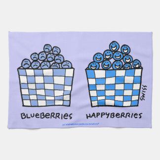 Funny Blueberries Cartoon Happyberries Kitchen Tow Tea Towel