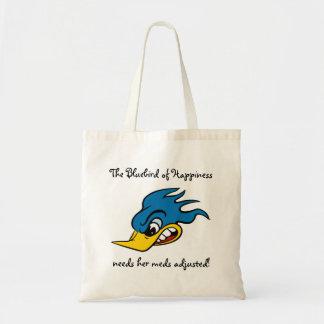 Funny Bluebird Tote Bag