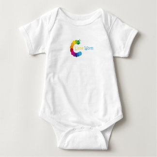 funny body with gusanito baby bodysuit