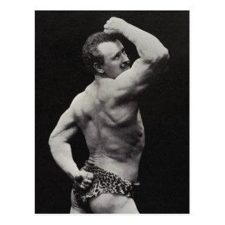 Funny Bodybuilder Postcard