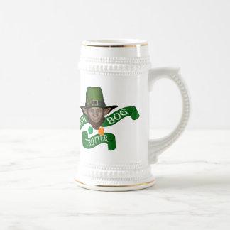 Funny bog trotter , Irish  leprechaun Beer Steins
