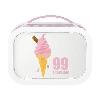 Funny bold summer ice cream graphic illustration lunch box