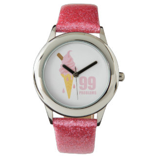 Funny bold summer icecream graphic illustration watch